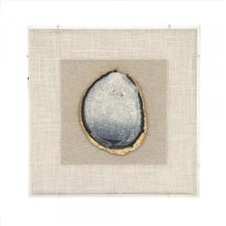 Homer Modern Classic Gold & Bluish Geode Framed Wall Art