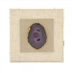 Homer Modern Classic Gold & Purple Geode Framed Wall Art