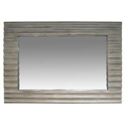 Ariana Modern Dark Grey Ridge Rectangular Wall Mirror