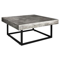 Ellie Modern Classic Black Base Grey Square Outdoor Coffee Table