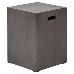 Hazel Modern Grey Square Outdoor Stool