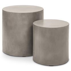 Lydia Modern Heavy Duty Grey Cylinder Outdoor Side Table