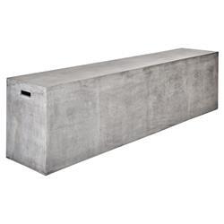 Lydia Modern Classic Dark Grey Concrete Outdoor Bench