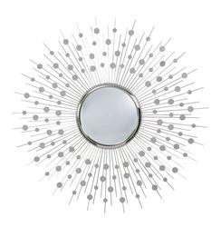 """Orlon Modern Silver Convex Starburst Round 36""""D Mirror"""