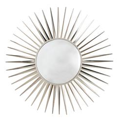 Astro Modern Convex Nickel Starburst Iron Mirror