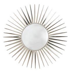 Astro Modern Convex Nickel Starburst Iron Mirror