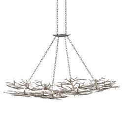 Toni Industrial Loft 14-Light Silver Tree Branch Chandelier