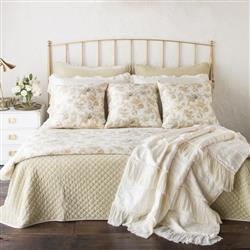 Bella Notte Valentina French Country Charmeuse Linen Silk Bedding Collection