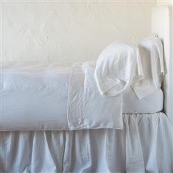 Bella Notte Madera Luxe French Country winter White Lyocell Flat Sheet - King