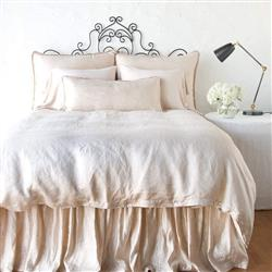 Bella Notte Paloma French Country Duvet Cover - Pearl Queen