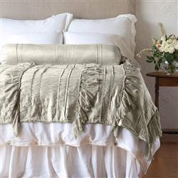 Bella Notte Valentina French Country Wedding Blanket - Fog