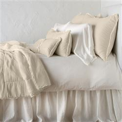 Bella Notte Carmen French Country Silk Velvet Personal Comforter - Parchment