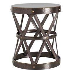 Arteriors Costello Dark Brass Hammered Metal Open Accent Side Table- Large