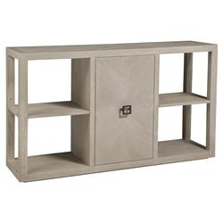 Artistica Credence Modern Wire Brushed Whitewash Wood 1-Door Console Table
