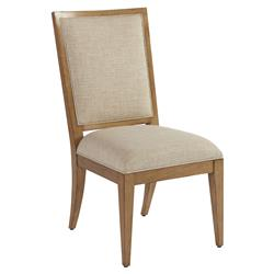 Barclay Butera Eastbluff Modern Upholstered Brown Wood Dining Side Chair - Beige