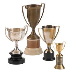 Hockday Antique Brass Nickel Decorative Trophies - Set of 4