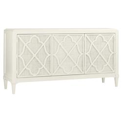 Tommy Bahama Hawkins Point Coastal Beach 3-Door White Wood Buffet Sideboard