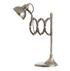 Trent Vintage Accordion Industrial Modern Silver Desk Lamp