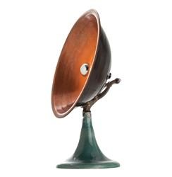 Wooster Industrial Loft Aged Copper Black Iron Accent Table Lamp