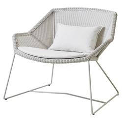 Cane-line Breeze White Cushion Outdoor Lounge Chair