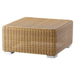 Cane-line Chester Coastal Brown Weave Square Outdoor Ottoman