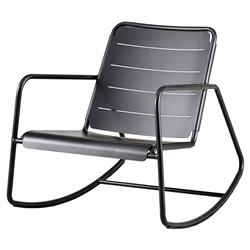 Cane-line Copenhagen Modern Grey Aluminum Outdoor Rocking Chair
