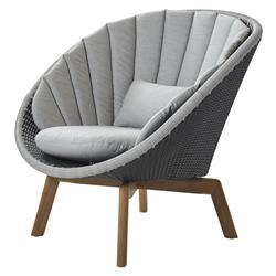 Cane-line Peacock Coastal Grey Light Grey Cushion Outdoor Lounge Chair