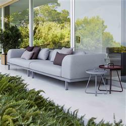 Cane-line Space Modern Grey Outdoor Sectional Sofa