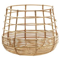 Cane-line Sweep Coastal Brown Rattan Round Basket