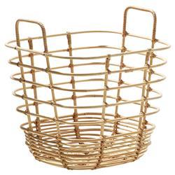 Cane-line Sweep Coastal Brown Rattan Square Basket