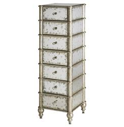 Harlow Hollywood Regency Antique Mirror 7 Drawer Lingerie Chest | CC-4212