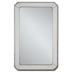 Hollywood Regency Antique Mirror Classic Bevel Cut Wall Mirror