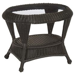 Summer Classics Wicker Modern N-dura™ Woven Oval Outdoor End Table