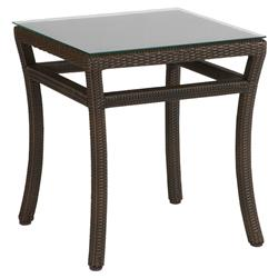 Summer Classics Club Woven Modern Black Walnut Outdoor End Table