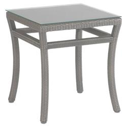 Summer Classics Club Woven Modern Oyster Outdoor End Table