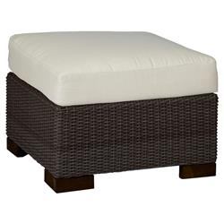 Summer Classics Club Woven Modern Black Walnut Outdoor Ottoman