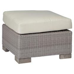 Summer Classics Club Woven Modern Oyster Outdoor Ottoman