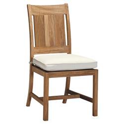 Summer Classics Croquet Club Teak Coastal Beach Outdoor Dining Side Chair