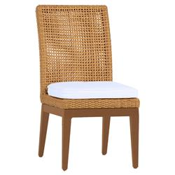 Summer Classics Peninsula Raffia Wicker Modern Outdoor Dining Side Chair