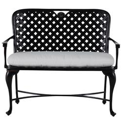 Summer Classics Provance Modern Ancient Earth Outdoor Cast Aluminum Bench