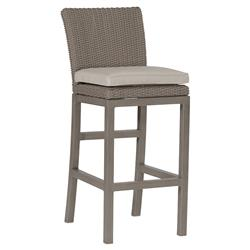 Summer Classics Rustic Modern N-dura™ Wicker Weathered Outdoor Bar Stool
