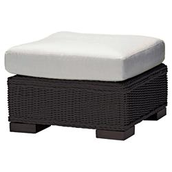 Summer Classics Rustic Modern N-dura™ Wicker Black Walnut Outdoor Ottoman
