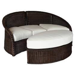 Summer Classics Sedona Modern Black Walnut Wicker Oval Outdoor Ottoman