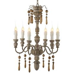 Aix French Country Gold 2 Tier 6 Light Chandelier