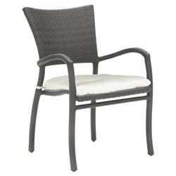 Summer Classics Skye Modern Slate Grey Outdoor Wicker Arm Chair