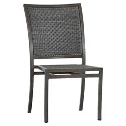Summer Classics Villa Modern Slate Grey Outdoor Dining Side Chair