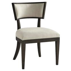 Theodore Alexander Modern Bristow Grey Wood Grey Upholstered Dining Chair