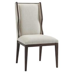 Theodore Alexander Modern Classic Della Brown Wood Wingback Dining Chair