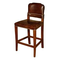 Gibbons Rustic Lodge Cigar Top Grain Leather Counter Stool | HS-LU236