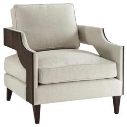 Theodore Alexander Modern Classic Emerson Club Brown Wood Living Room Chair